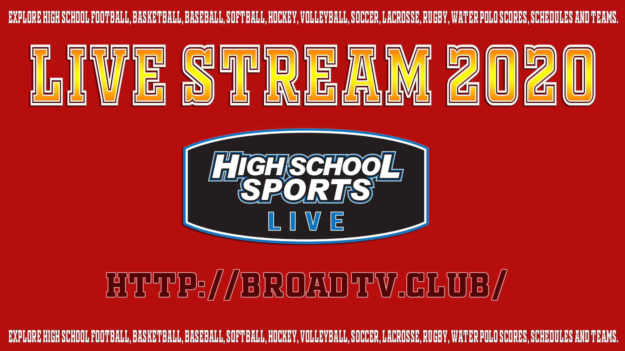 Highschool Live Stream 2020